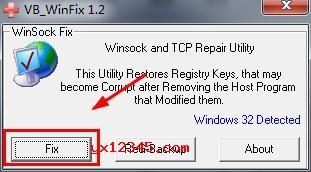 winsockxpfix修复工具使用方法