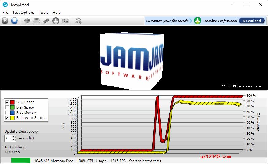 Heavyload软件拷机测试界面截图