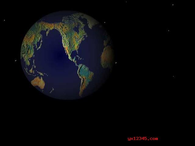 3d地球屏保效果1