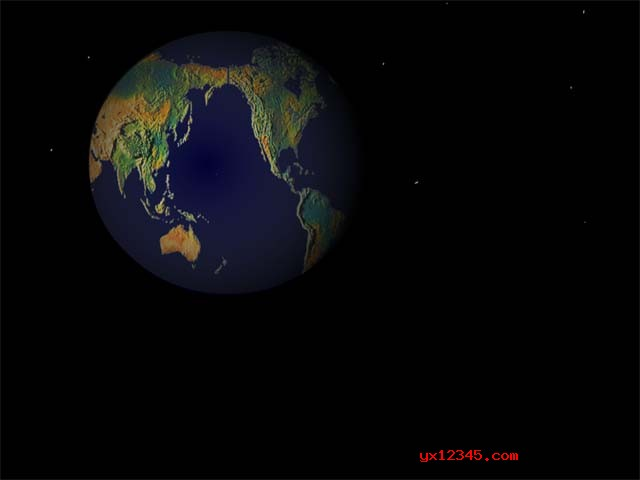 3d地球屏保效果2