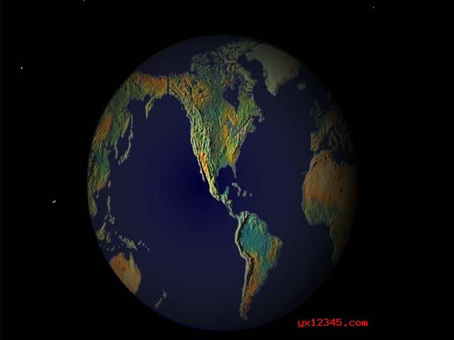 3d地球屏保效果3