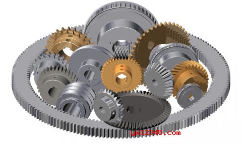 用GearTrax创建的齿轮模型欣赏