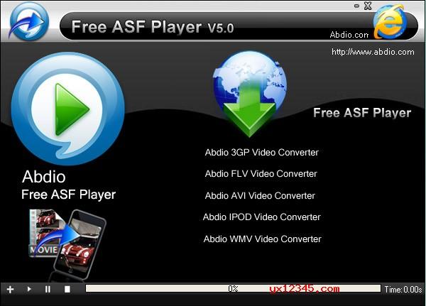 asf格式视频播放器_Abdio Free ASF Player