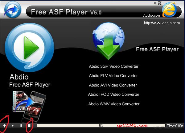 Abdio Free ASF Player播放器使用方法