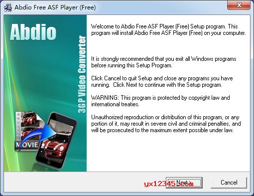 Abdio Free ASF Player安装方法