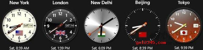 Sharp World Clock显示多时区时间效果