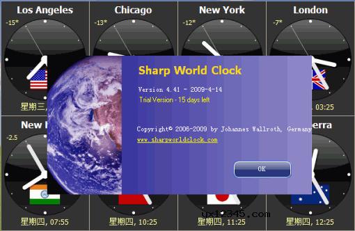 多时区时钟软件_Sharp World Clock