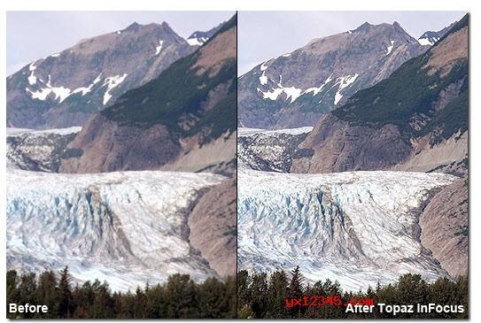 使用Topaz InFocus对模糊照片进行清晰化处理前后对比