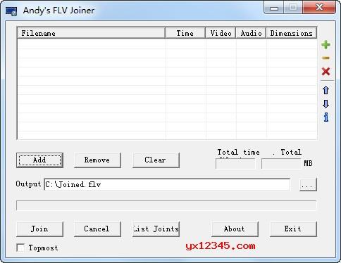 flv视频合并器软件_Andy's FLV Joiner