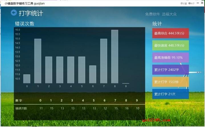 小郭小键盘数字键练习工具界面截图3