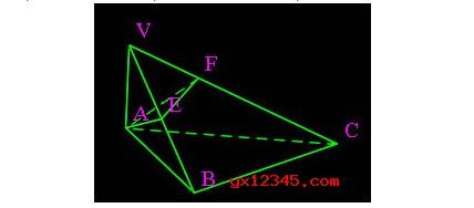 移动鼠标可得虚线标示的棱台,改变与V点距离,可见棱柱与棱锥.在V点附近单击得三棱锥V-ABC