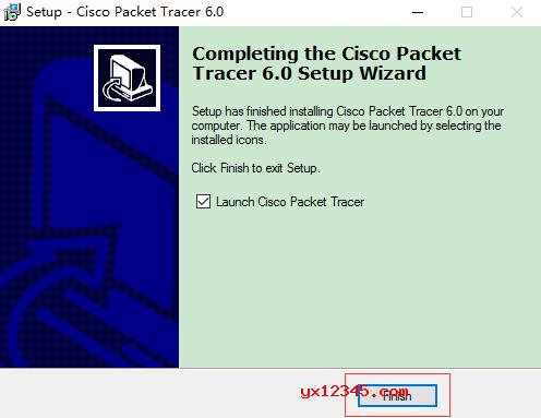 等待一会Cisco Packet Tracer就安装好了。