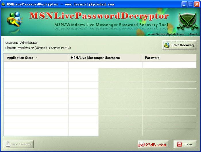本地msn(live)账号密码找回软件_MSN Live Password Decryptor