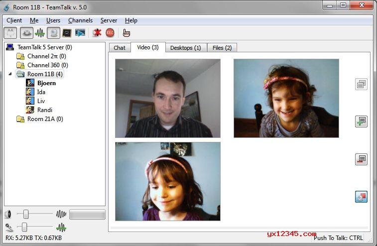 TeamTalk 5视频通话界面截图