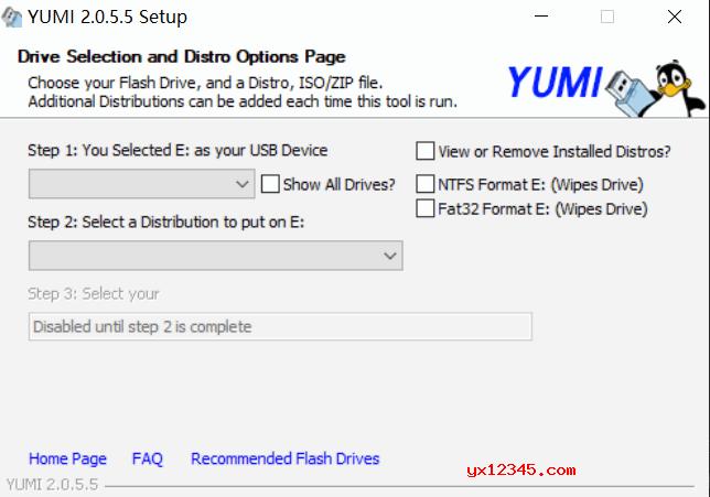 用YUMI制作多合一U盘启动盘教程