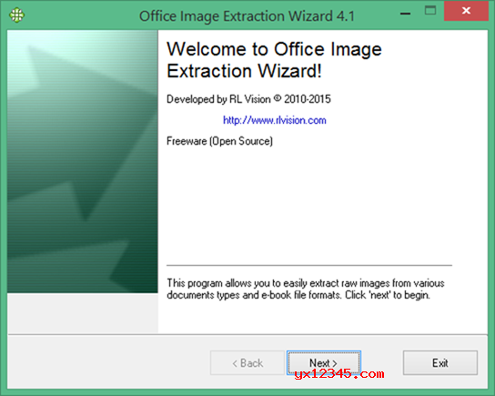 Office Image Extraction Wizard软件使用方法