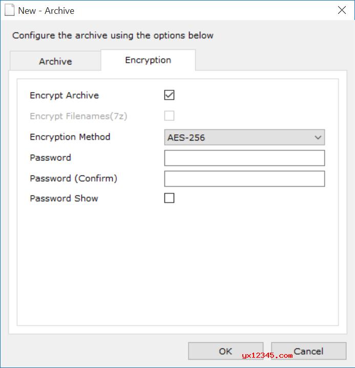 Zipware允许使用AES-256加密创建受密码保护的存档