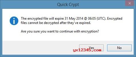 Quick Crypt 软件的加密解密原理是将密码提示,文件所有者与注释存储在加密文件中