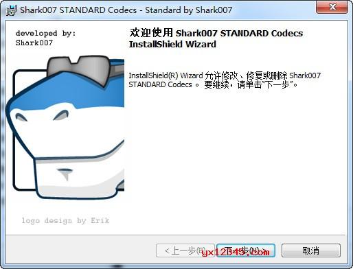 win8codecs解码器安装界面截图