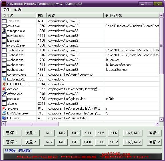 一键强制关闭进程工具_Advanced Process Termination