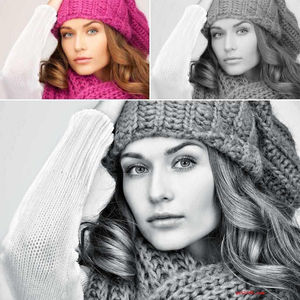 支持以平滑,高质量的黑白转换颜色