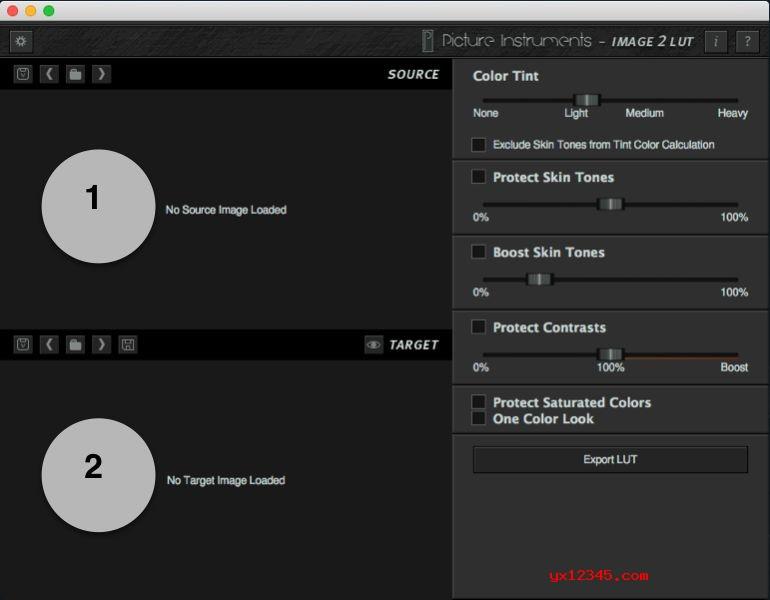 介绍一下Image 2 LUT 调色仿色工具的功能界面