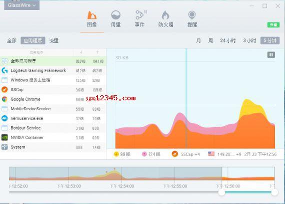 glasswire汉化破解版_流量防火墙与和网络监视器工具