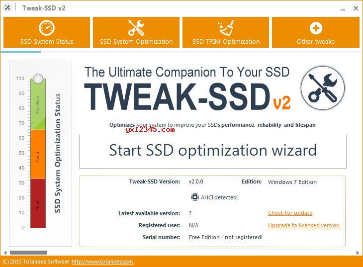 Tweak-SSD固态硬盘优化工具_优化SSD硬盘让其工作在最佳状态