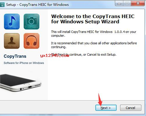 CopyTrans HEIC图片查看与转换工具安装方法
