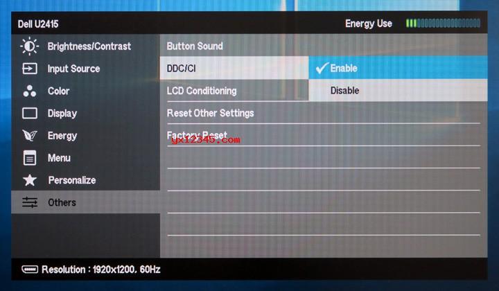 Dell显示器打开DDC / CI方法