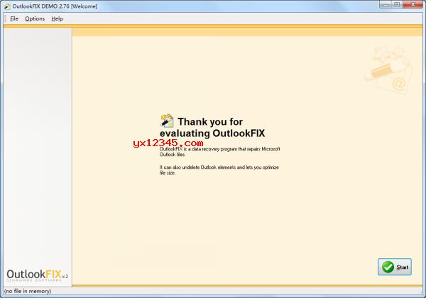 outlook修复工具主界面截图