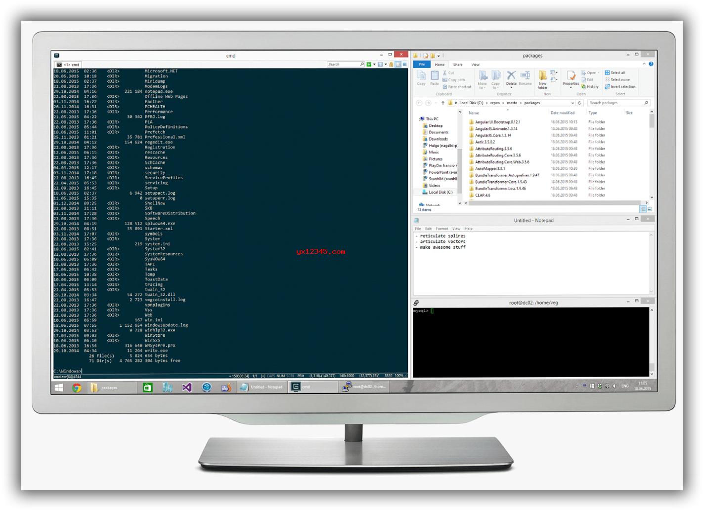 Maxto显示器屏幕分割显示效果欣赏