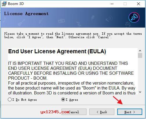 解压后双击Boom3DWindows.msi安装程序安装官方程序