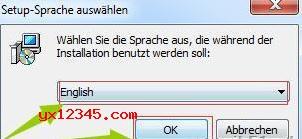 先运行安装程序安装官方软件,安装时请选择英文语言。