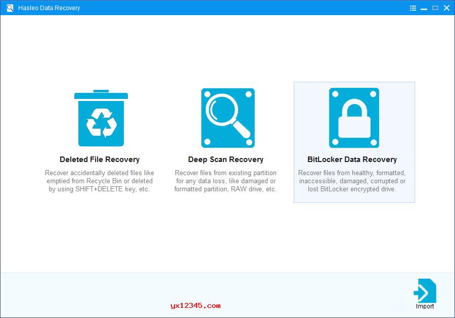 Hasleo Data Recovery从已删除或丢失的BitLocker加密驱动器中恢复数据教程