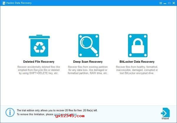Hasleo Data Recovery恢复模式选择界面