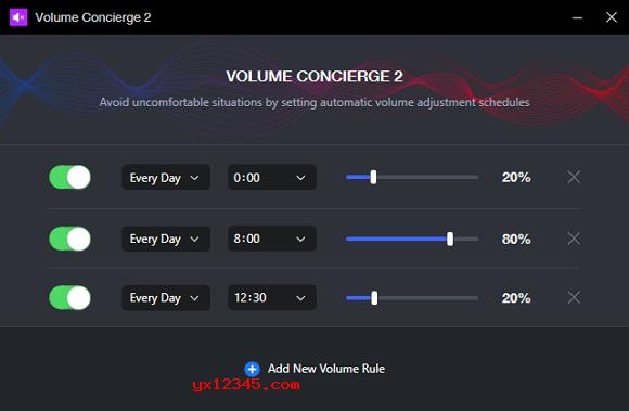Volume Concierge 2界面截图