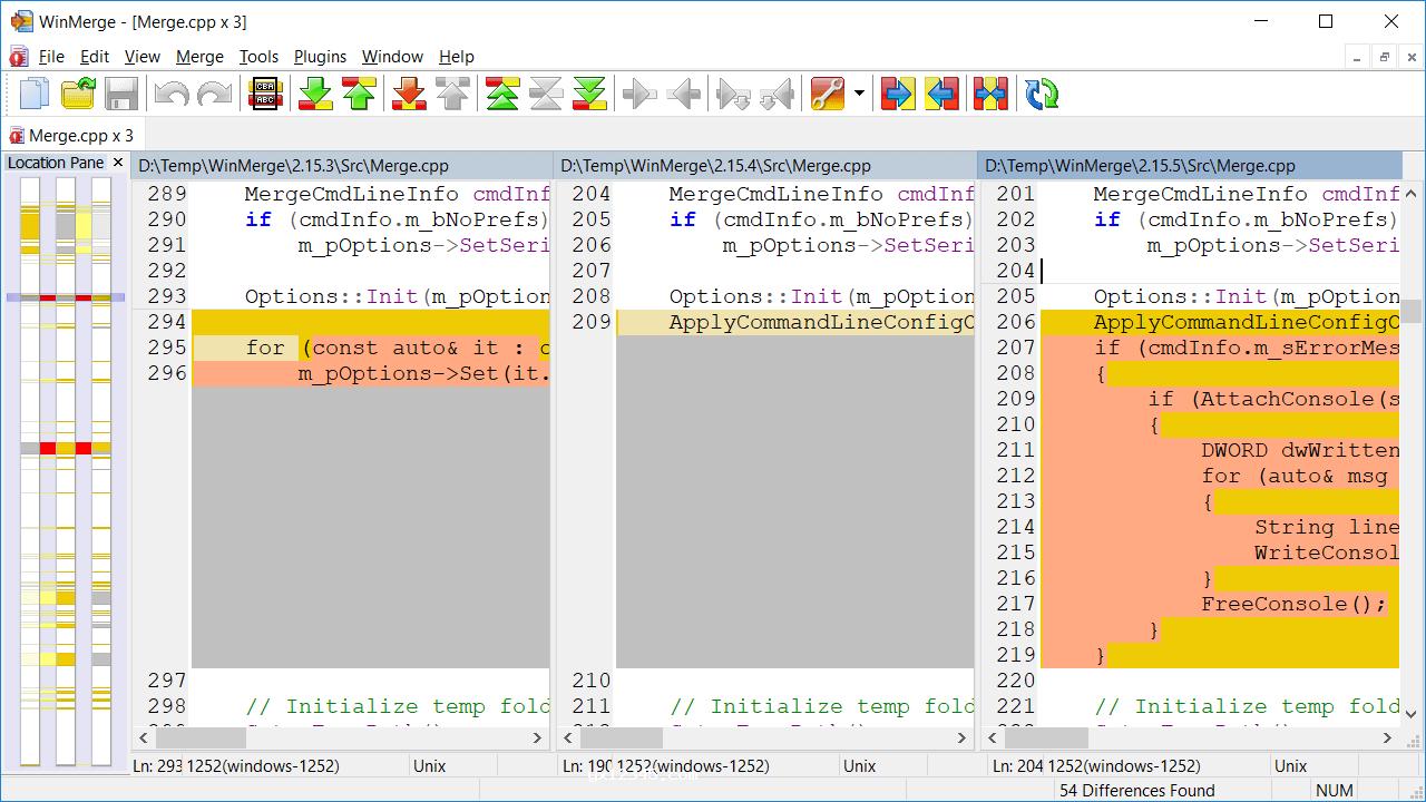 三向文件比较功能演示