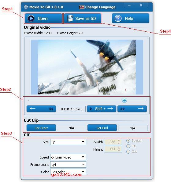 Movie To GIF转换器使用方法