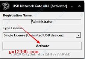 "随后运行UNGActivator.exe,点击""Active""激活。"