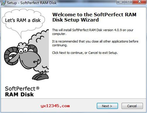运行ramdisk_setup.exe安装程序