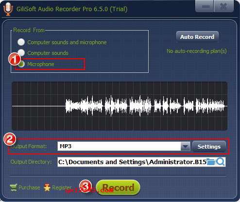 GiliSoft Audio Recorder麦克风录音教程