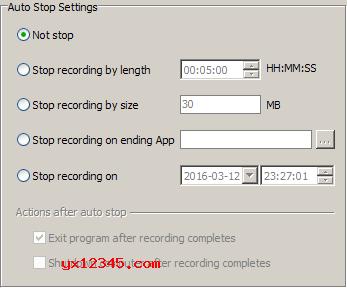 可轻容易松地自动安排开始与停止录制的录制时间。
