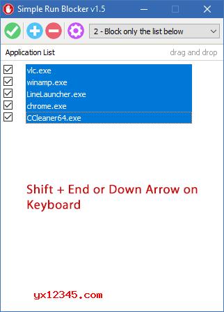 """如果要删除列表中的程序,请选择它,随后单击""""删除""""(红色减号)按钮"""