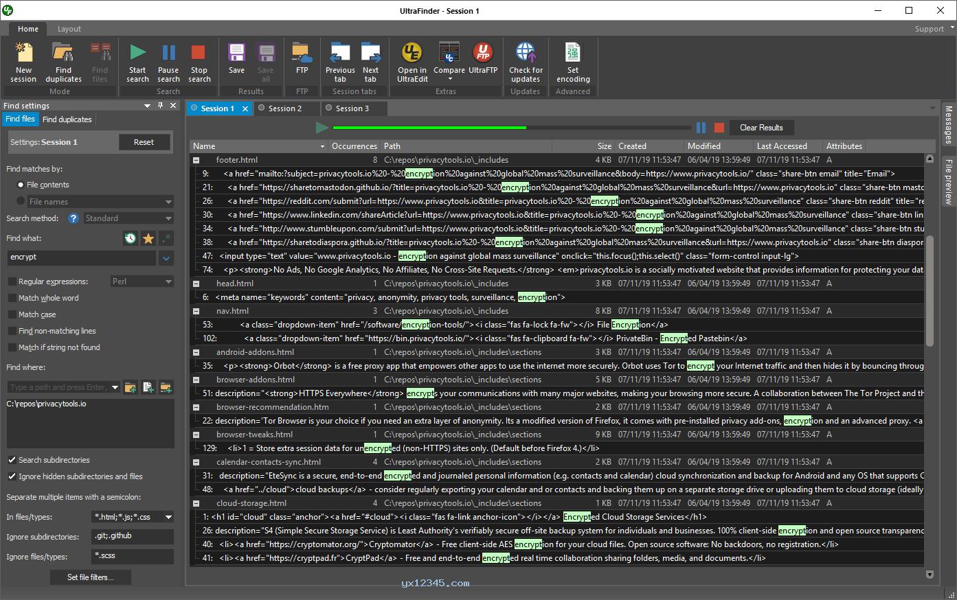 UltraFinder软件官方版界面截图