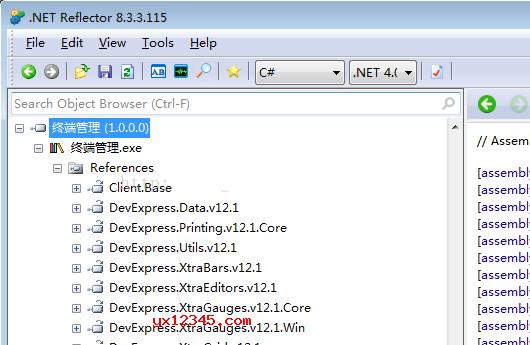 """展开References,查看里面引用到的程序集是否在左边列表都存在,如果一直报""""不明确匹配""""错误,就说明差一些基础程序集。基础程序集在.net reflector安装完后,并没有默认添加进来,需要手动添加。"""