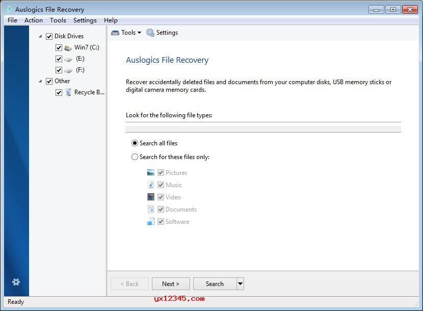 Auslogics File Recovery官方官方界面截图