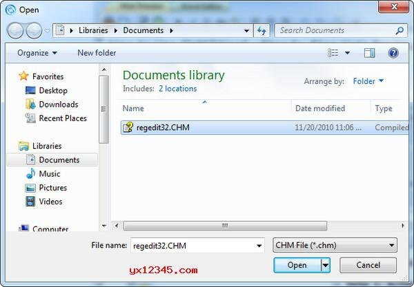 运行chm2word软件,打开一个CHM文件,选择主题。