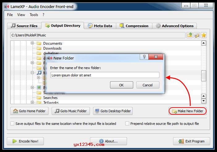 设置一个转换后的输出文件夹