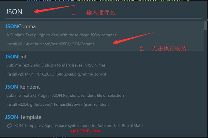 打开sublime text 3,随后按Ctrl + shift + p快捷键,点击 选项 package control :Install Package,打开插件安装界面